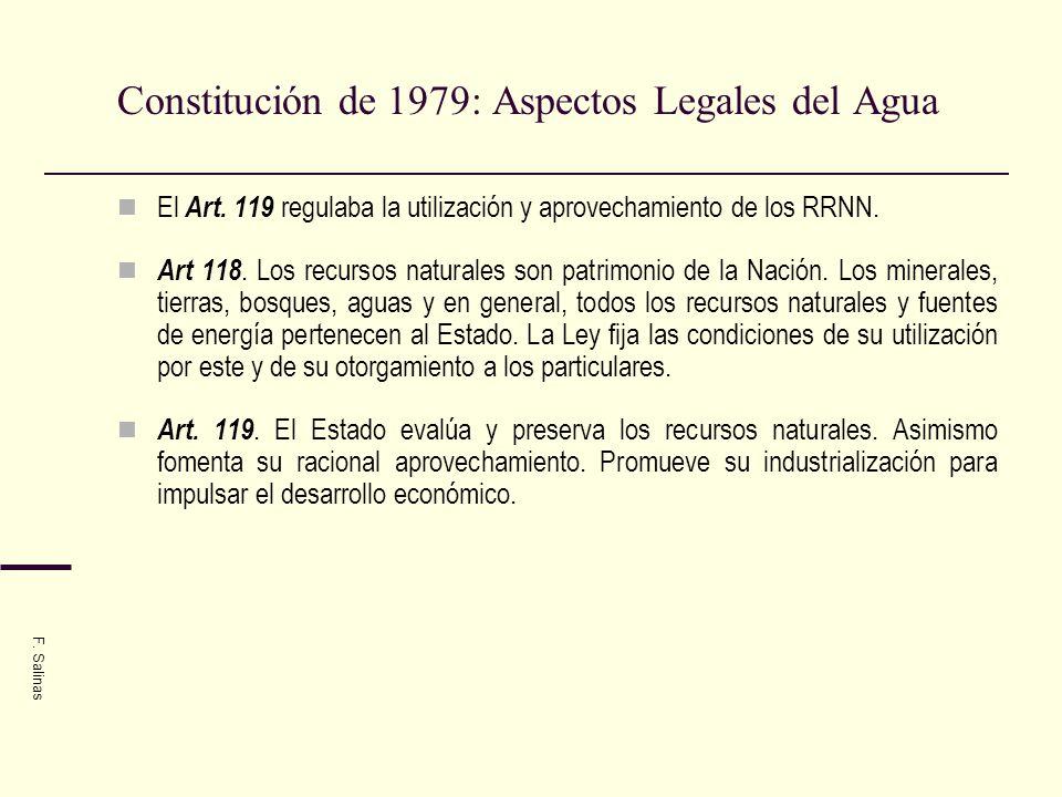 Constitución de 1979: Aspectos Legales del Agua