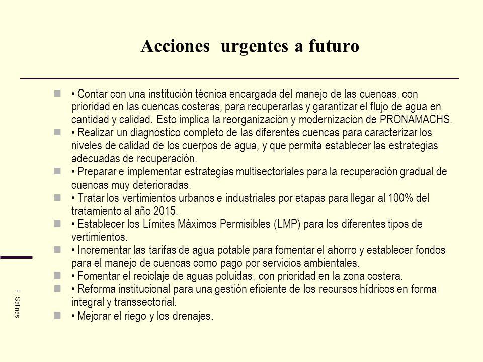 Acciones urgentes a futuro