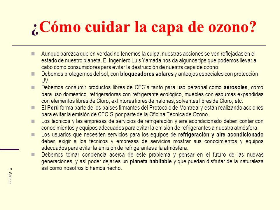 ¿Cómo cuidar la capa de ozono