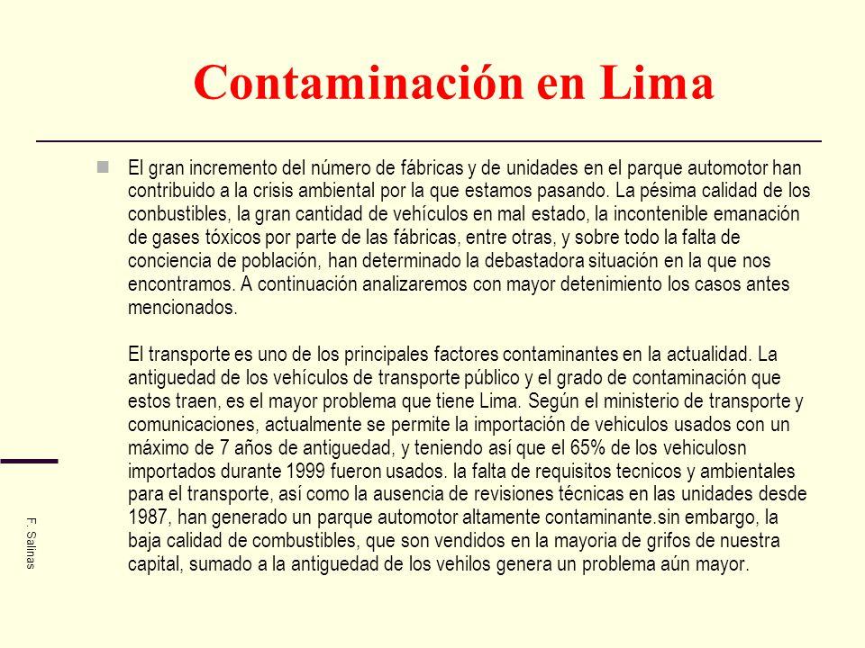 Contaminación en Lima