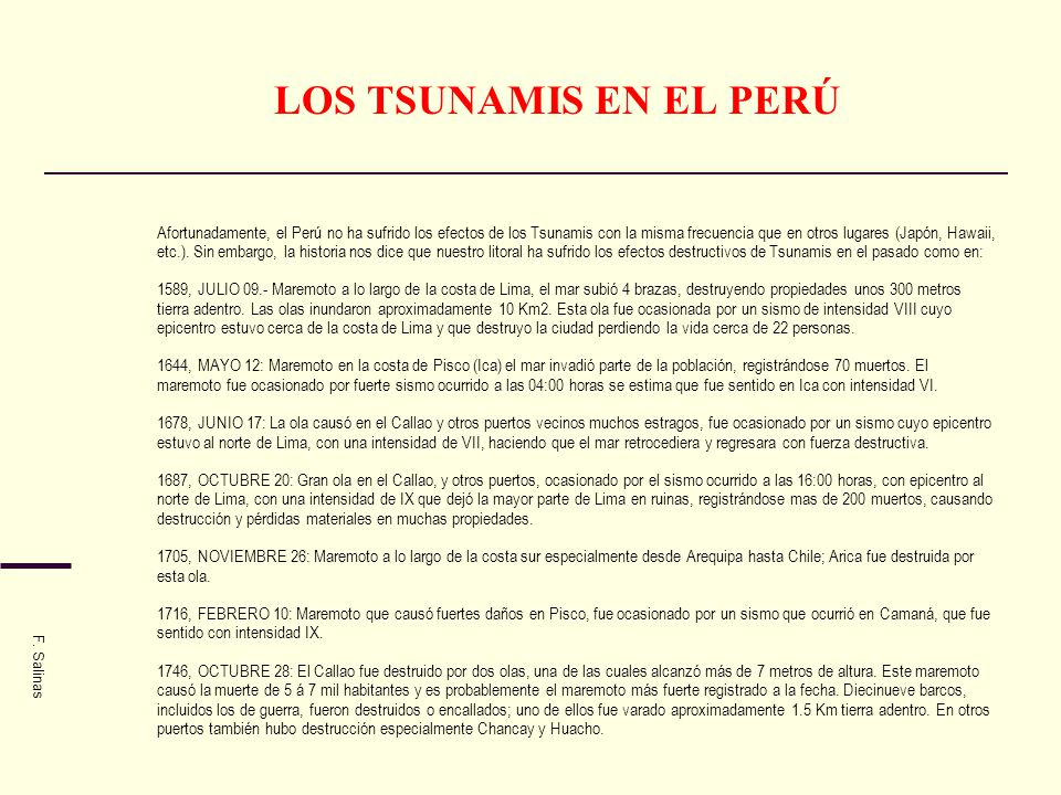 LOS TSUNAMIS EN EL PERÚ