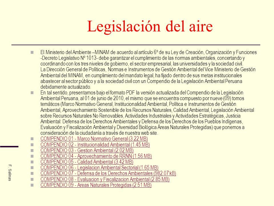 Legislación del aire