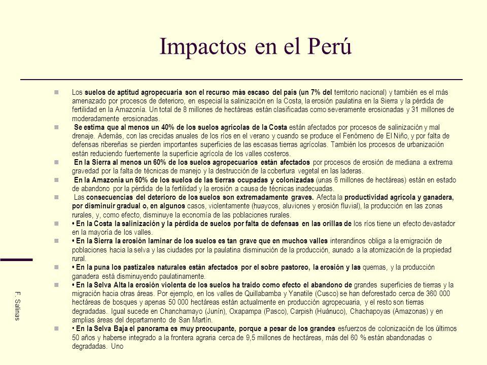 Impactos en el Perú
