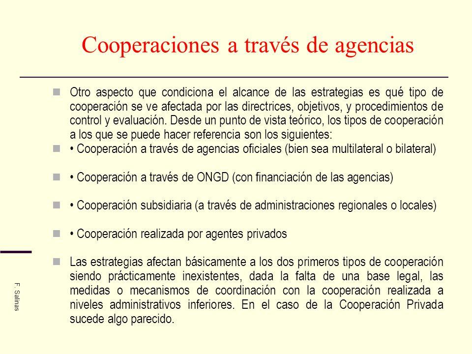 Cooperaciones a través de agencias