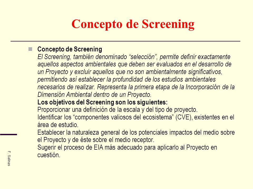 Concepto de Screening