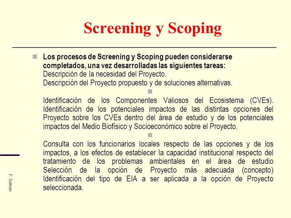 Screening y Scoping