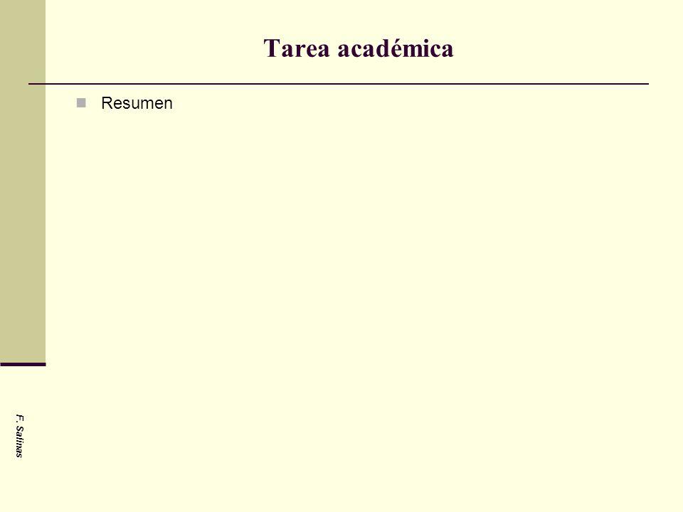 Tarea académica Resumen F. Salinas