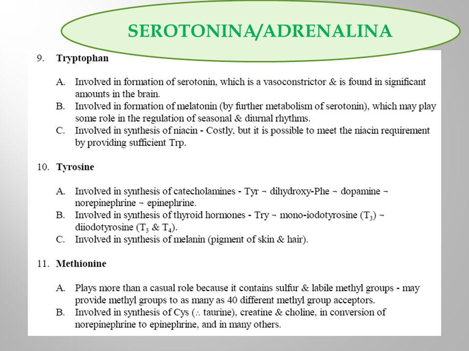 SEROTONINA/ADRENALINA