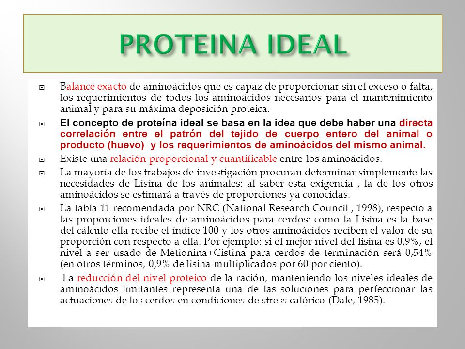 PROTEINA IDEAL