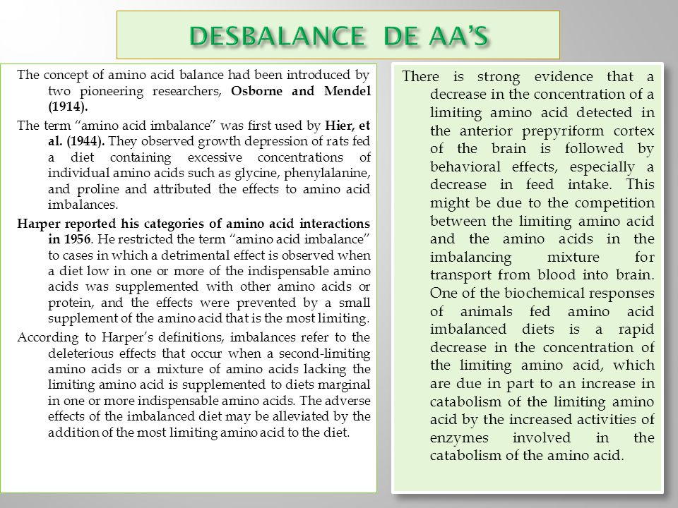 DESBALANCE DE AA'S