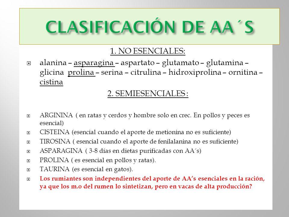 CLASIFICACIÓN DE AA´S 1. NO ESENCIALES: