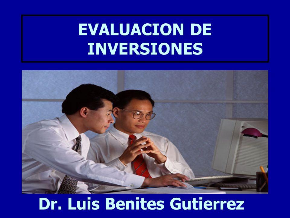 EVALUACION DE INVERSIONES