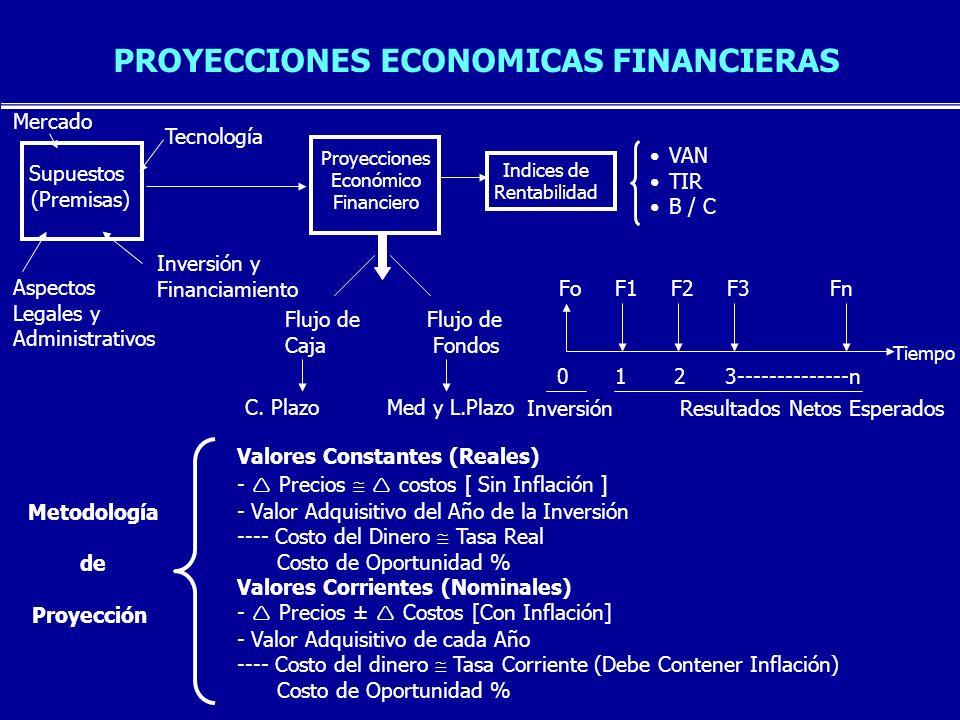 PROYECCIONES ECONOMICAS FINANCIERAS