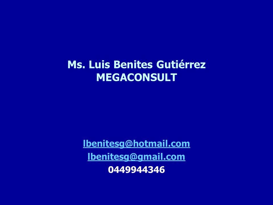Ms. Luis Benites Gutiérrez MEGACONSULT