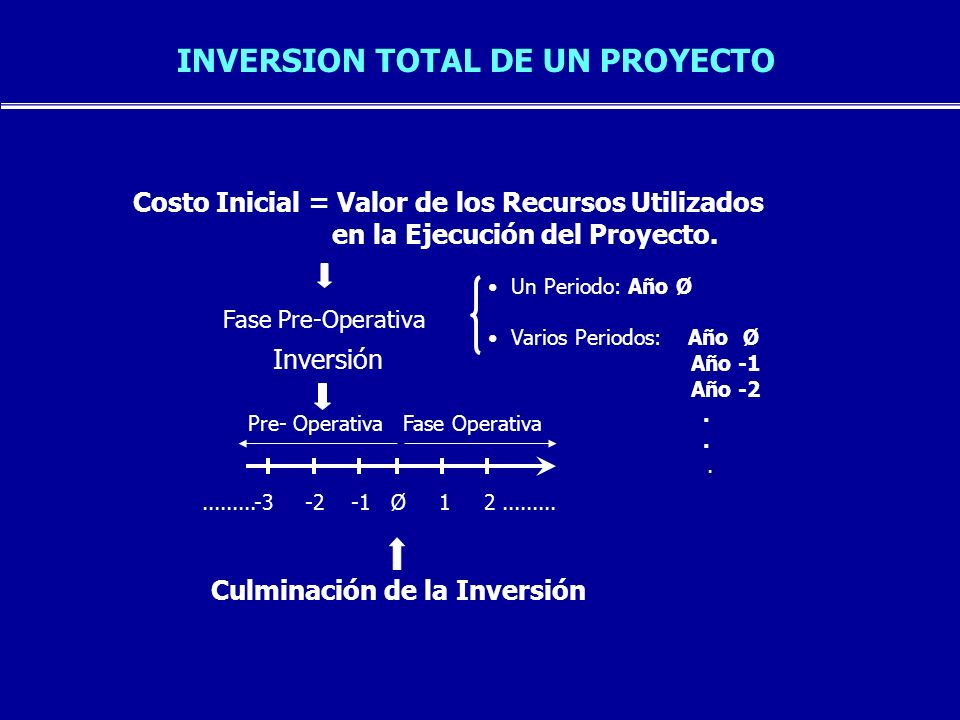INVERSION TOTAL DE UN PROYECTO