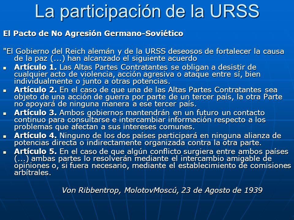La participación de la URSS