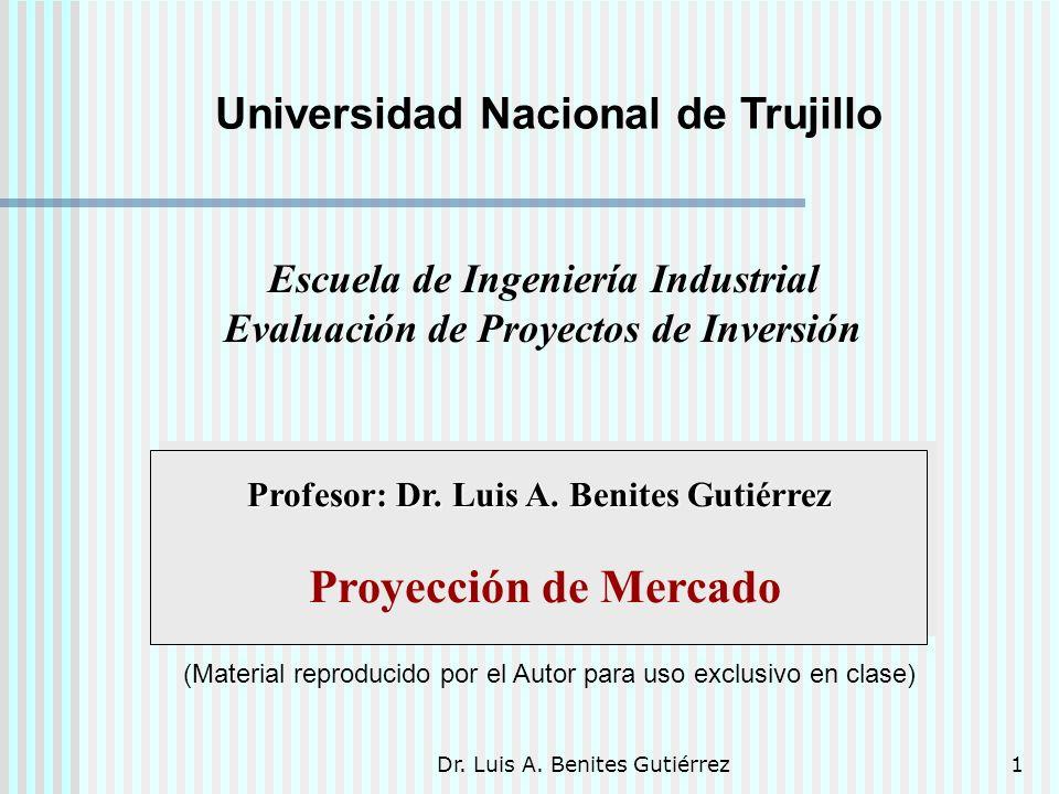 Proyección de Mercado Universidad Nacional de Trujillo