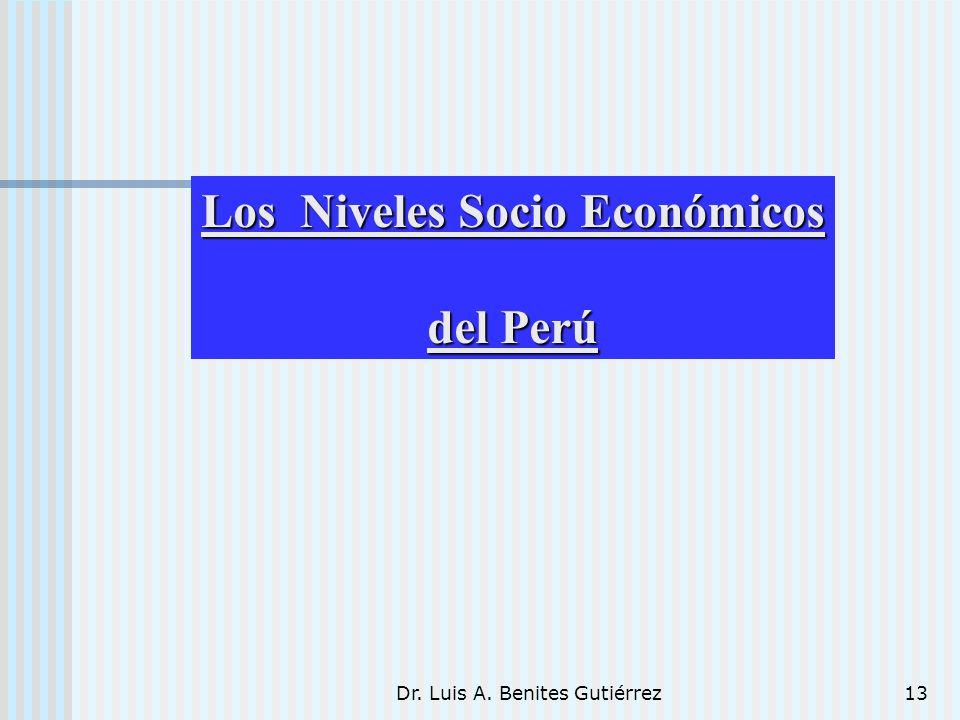 Los Niveles Socio Económicos