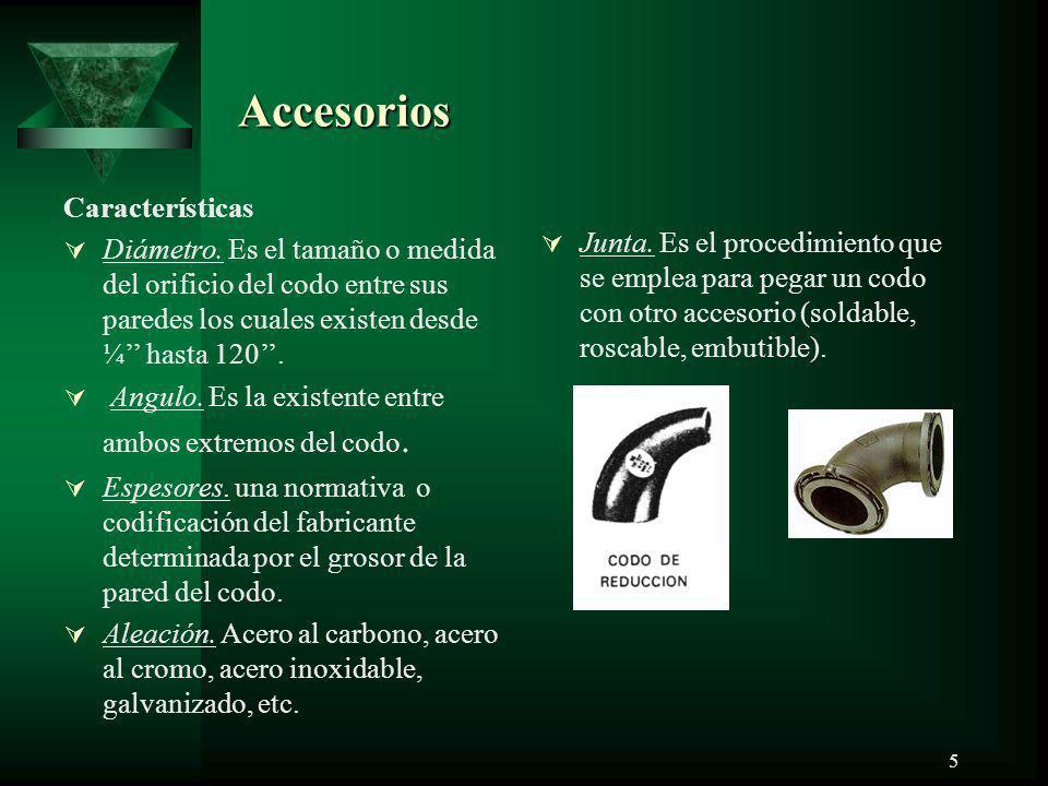 Accesorios Características