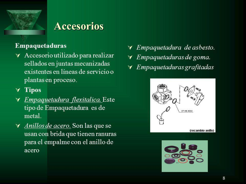 Accesorios Empaquetaduras Empaquetadura de asbesto.