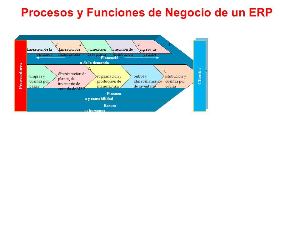 Procesos y Funciones de Negocio de un ERP