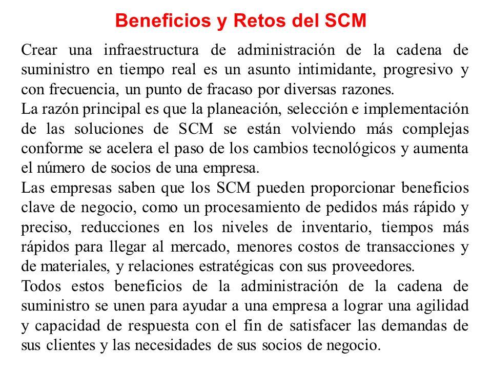 Beneficios y Retos del SCM