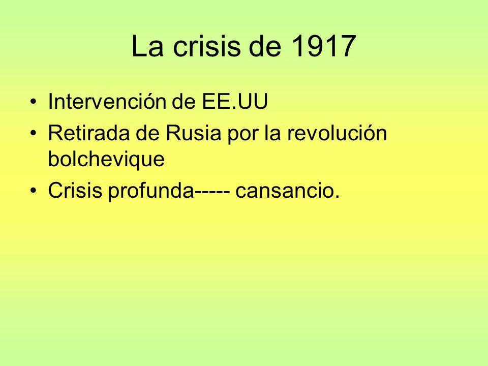 La crisis de 1917 Intervención de EE.UU