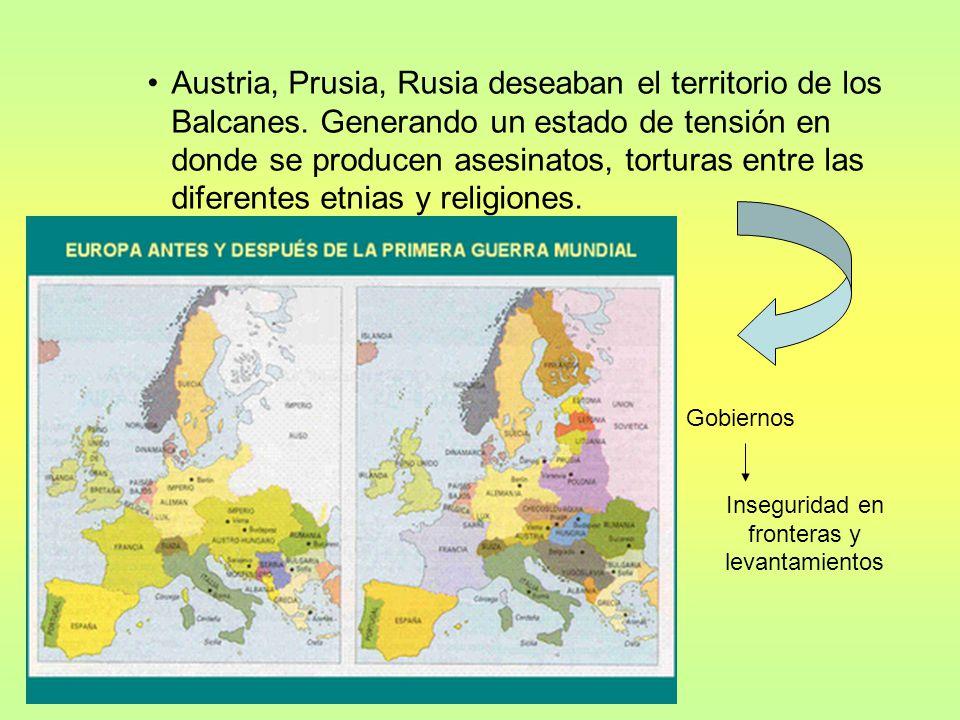 Inseguridad en fronteras y levantamientos