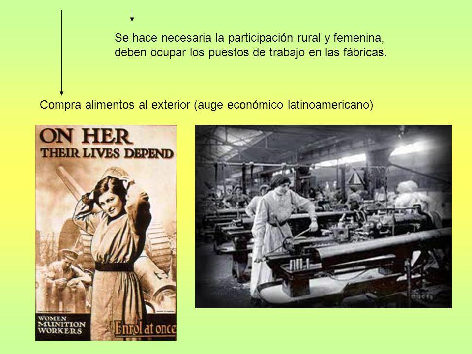Se hace necesaria la participación rural y femenina, deben ocupar los puestos de trabajo en las fábricas.