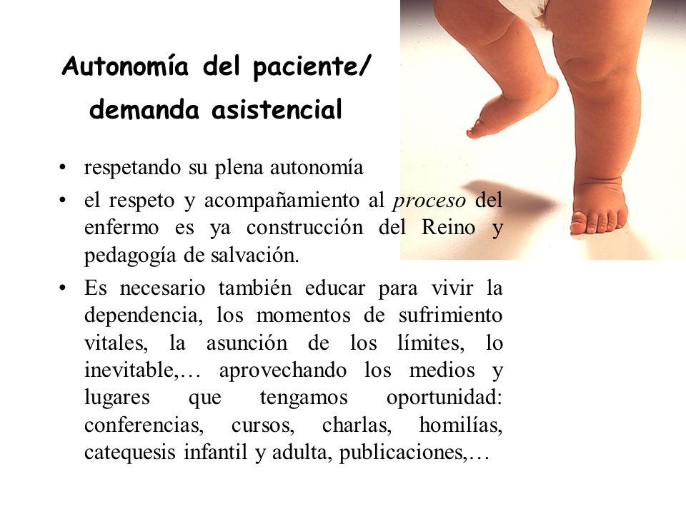 Autonomía del paciente/ demanda asistencial