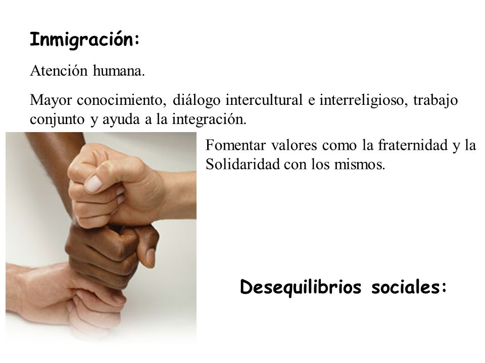 Desequilibrios sociales: