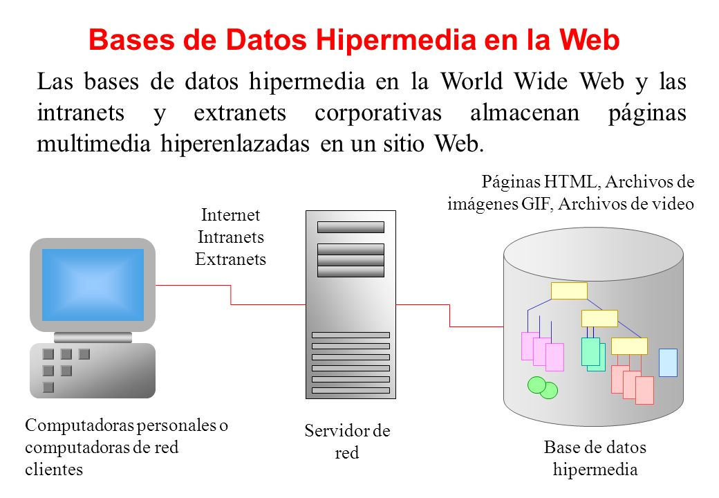 Bases de Datos Hipermedia en la Web