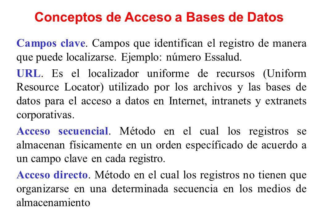 Conceptos de Acceso a Bases de Datos