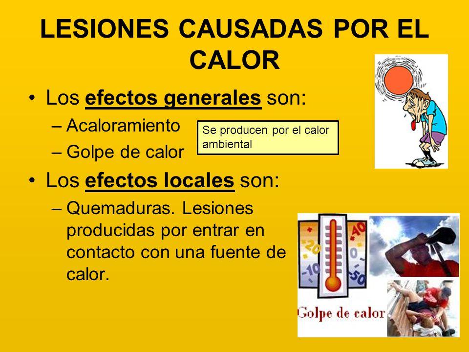 LESIONES CAUSADAS POR EL CALOR