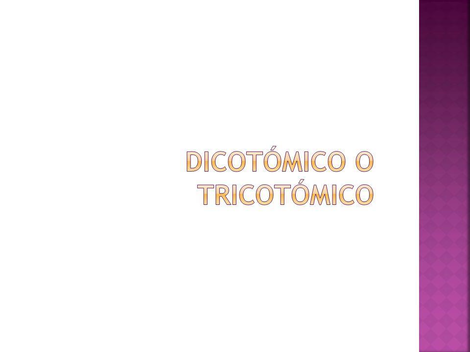 DICOTÓMICO O TRICOTÓMICO
