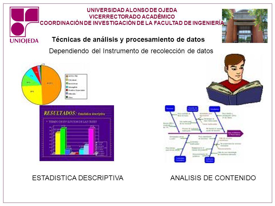 Técnicas de análisis y procesamiento de datos
