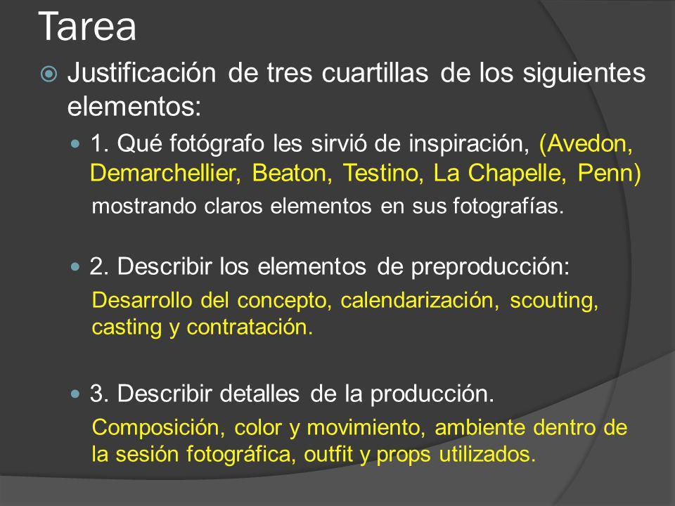 Tarea Justificación de tres cuartillas de los siguientes elementos: