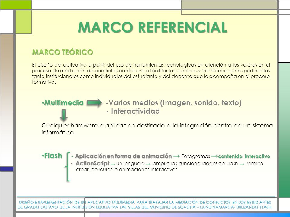 MARCO REFERENCIAL MARCO TEÓRICO