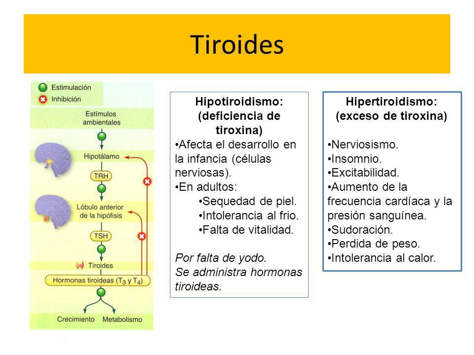 (deficiencia de tiroxina)