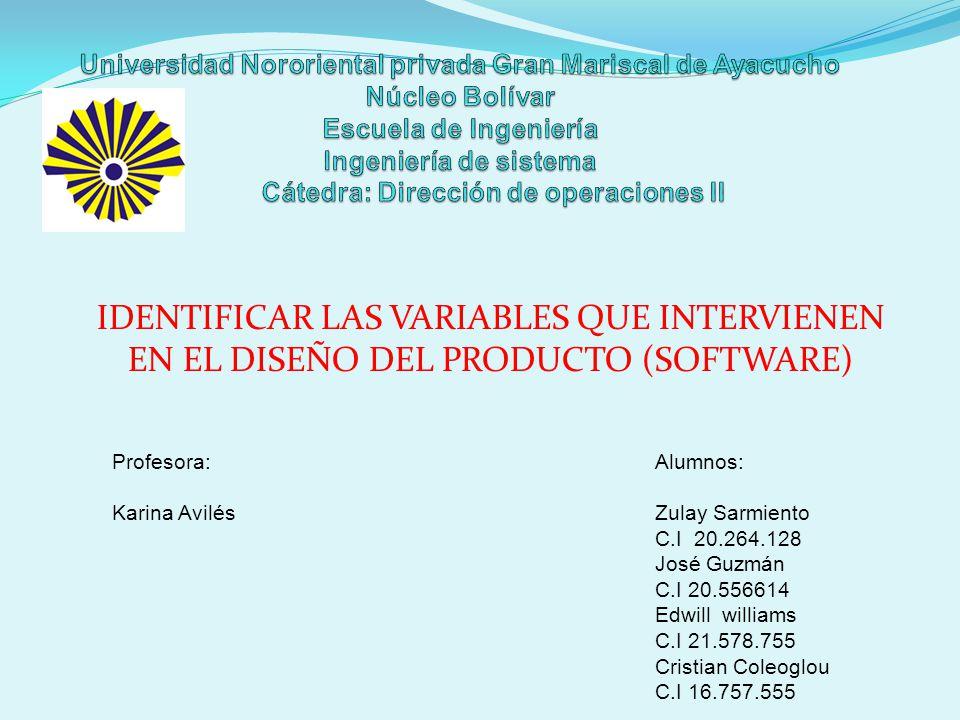 Universidad Nororiental privada Gran Mariscal de Ayacucho Núcleo Bolívar Escuela de Ingeniería Ingeniería de sistema Cátedra: Dirección de operaciones II
