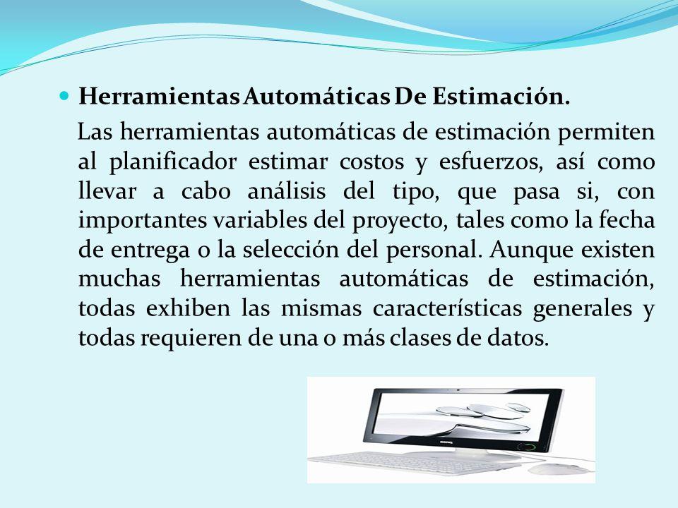 Herramientas Automáticas De Estimación.