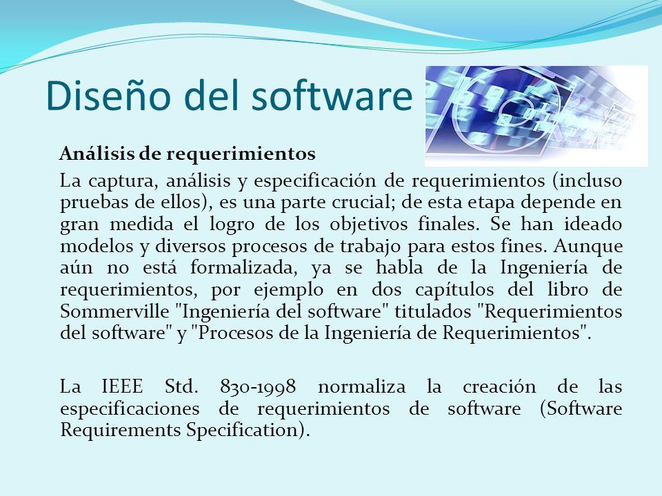 Diseño del software Análisis de requerimientos