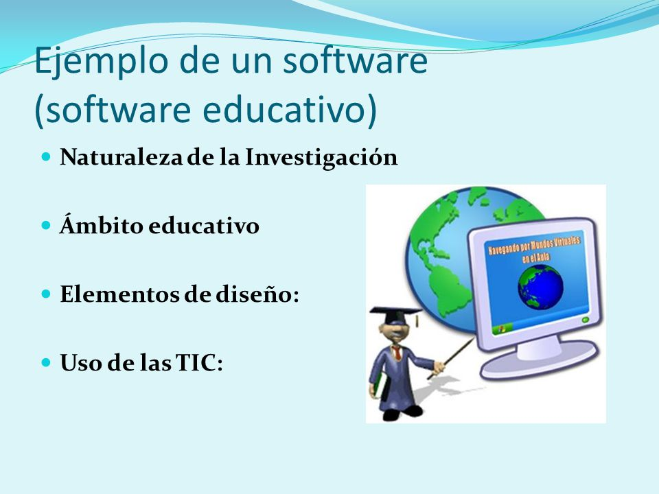 Ejemplo de un software (software educativo)