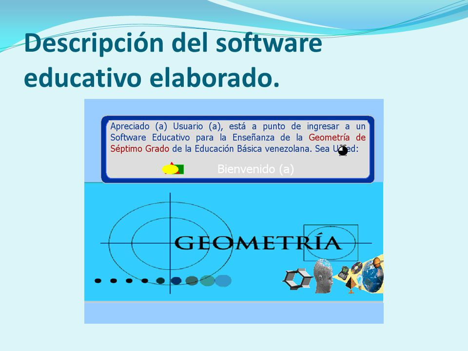 Descripción del software educativo elaborado.