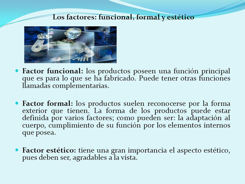 Los factores: funcional, formal y estético