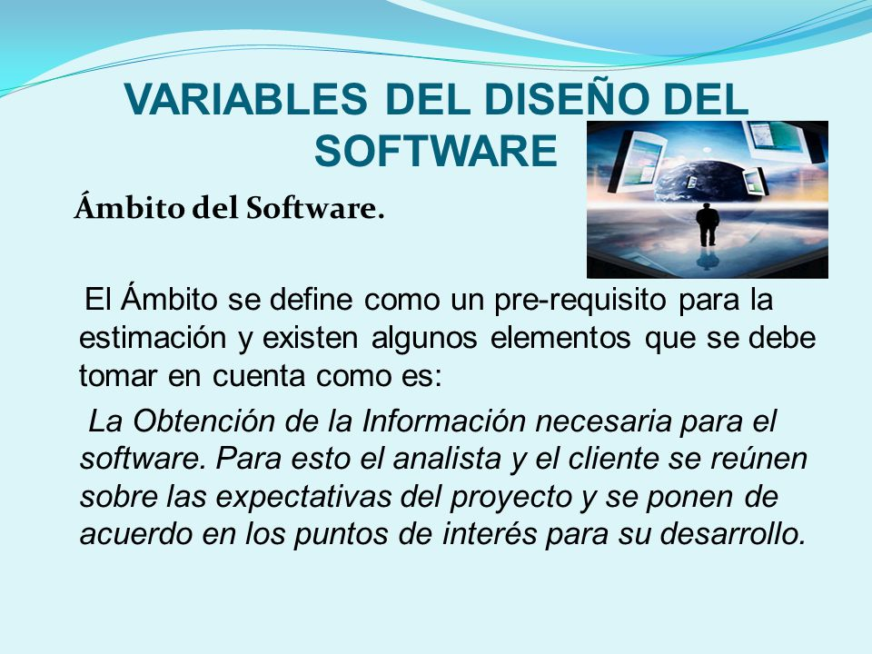 VARIABLES DEL DISEÑO DEL SOFTWARE