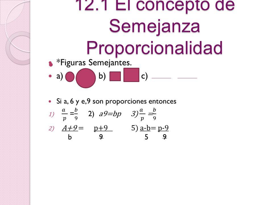 12.1 El concepto de Semejanza Proporcionalidad