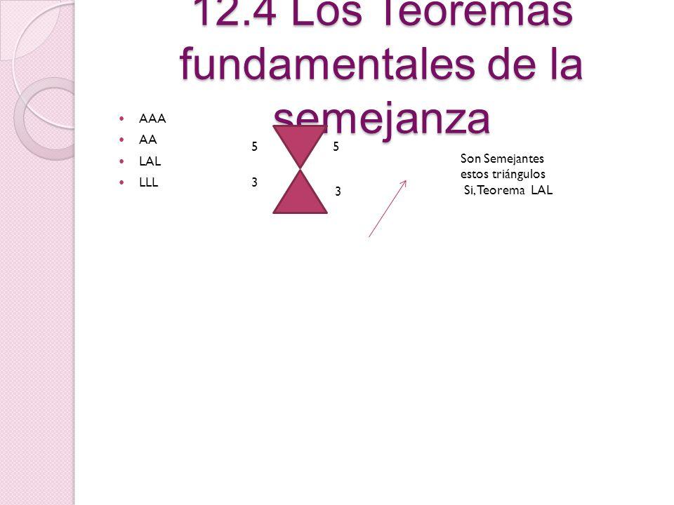 12.4 Los Teoremas fundamentales de la semejanza