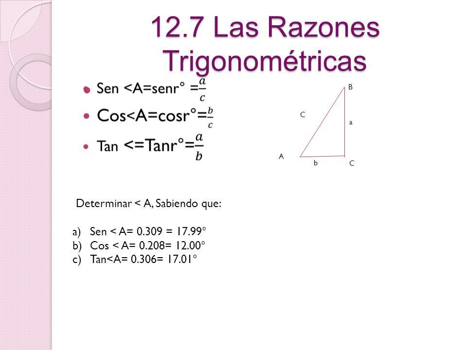12.7 Las Razones Trigonométricas