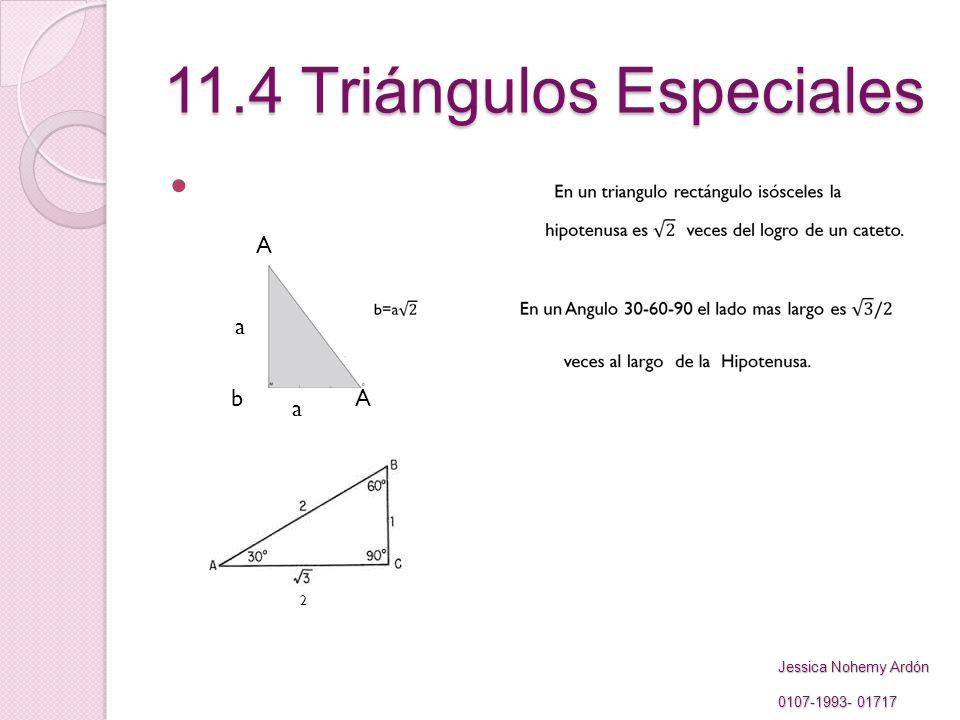 11.4 Triángulos Especiales